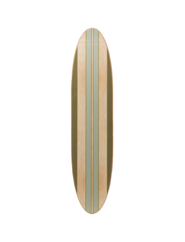 Wood Striped Surfboard Wall Decor