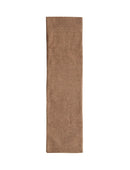 Brown Wool Blend Tweed Table Runner / 108""