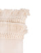 "Cotton & Chenille Woven Lumbar Pillow w/ Fringe / 24"" x 16"""
