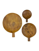 TEAK ROOT PADDLE TRAY, SET OF 3