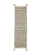Cream Cotton Rug w/ Black Stripes