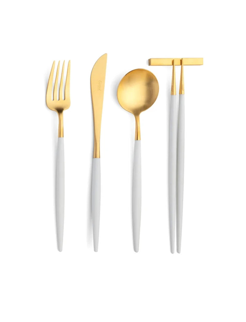 Goa Flatware White/Gold