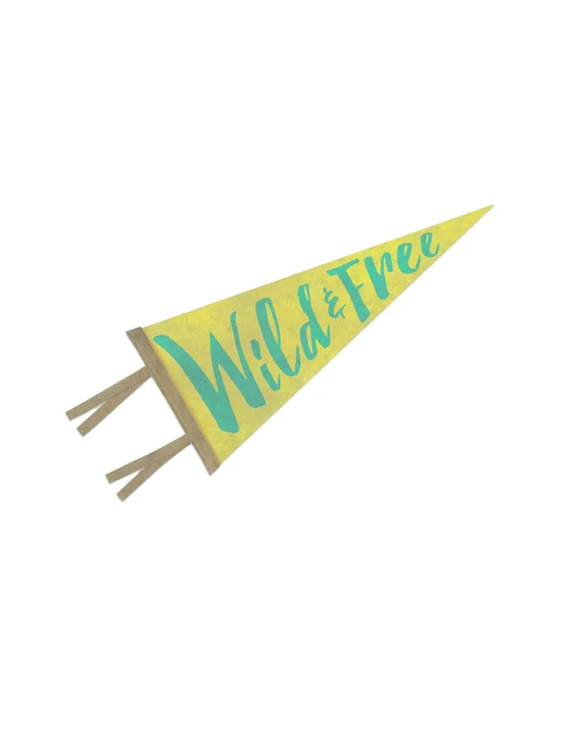 WILD AND FREE PENNANT