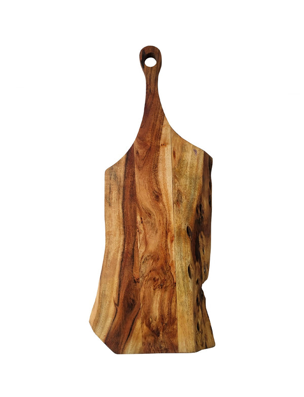 ACACIA WOOD LIVE EDGE CUTTING BOARD / 27""