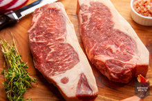 Load image into Gallery viewer, Signature Smoked-Butter Aged New York Steaks Pre-Order ONLY!!!