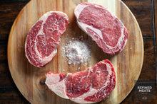 Load image into Gallery viewer, PRE ORDER NOW: Signature Smoked-Butter Aged Prime Ribeye Steaks Pre-Order for July 27th Delivery