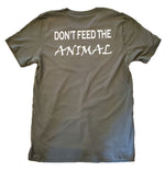 fitness tee gym shirts planet fitness animal green military green