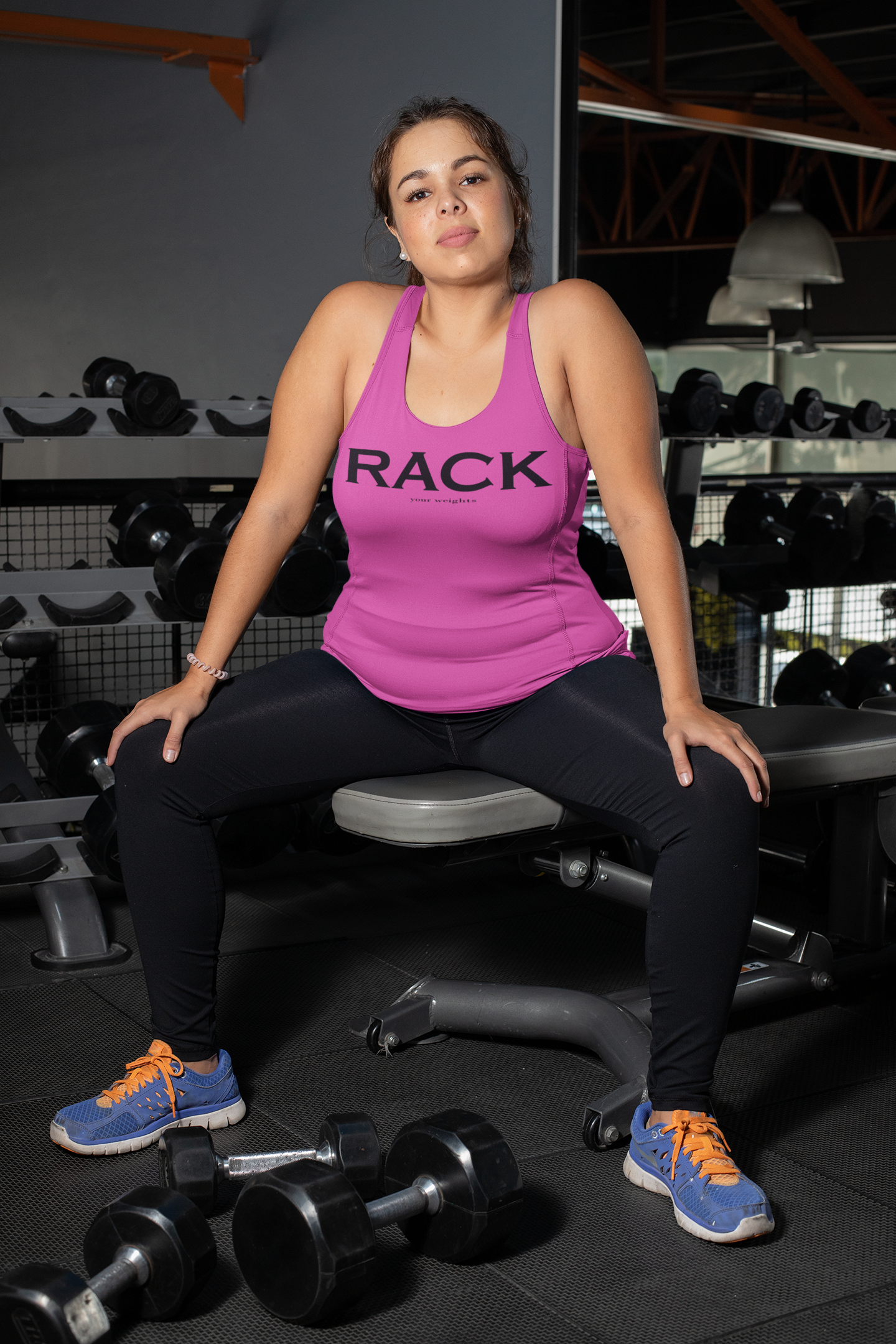 RACK (your weights) Racer Tank