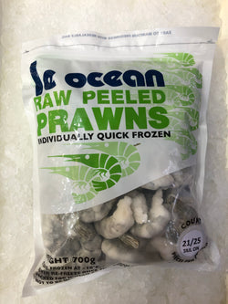Malaysian Raw Peeled & Deveined Frozen Prawns by Ocean Plus
