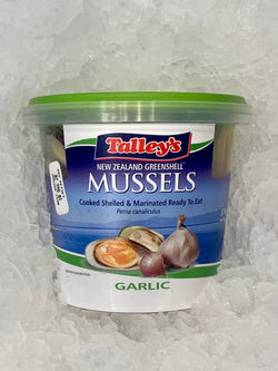 Cooked and Marinated New Zealand Greenshell Mussels by Talley's