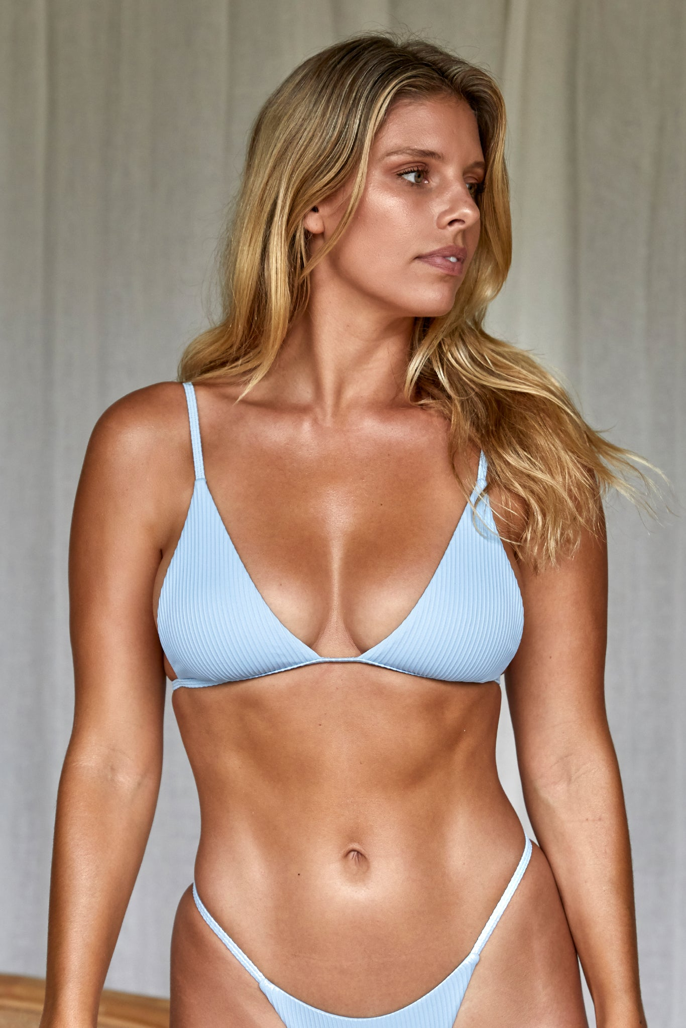 Barbados Top - Sky Blue Rib