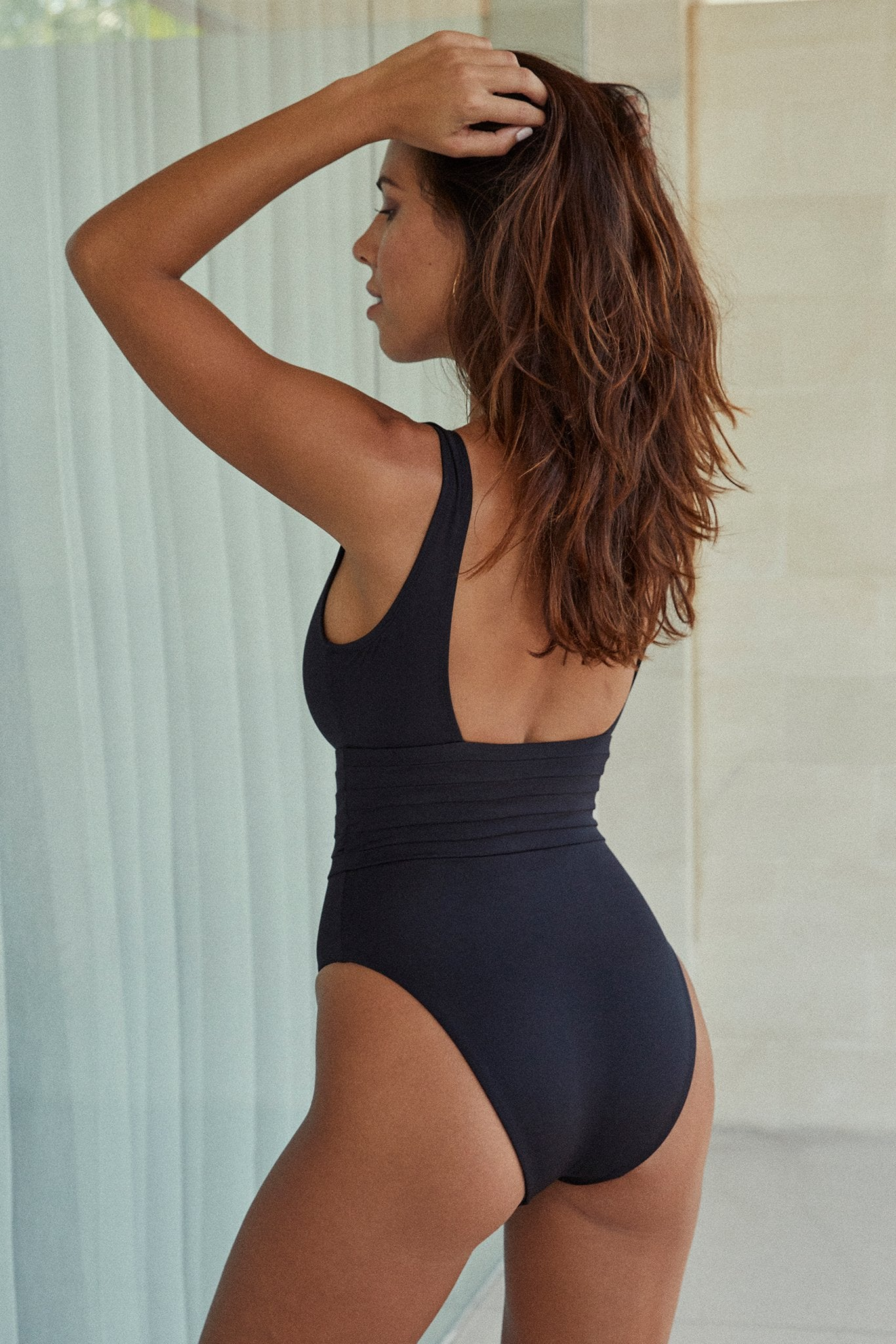 Load image into Gallery viewer, Corsica One Piece - Black