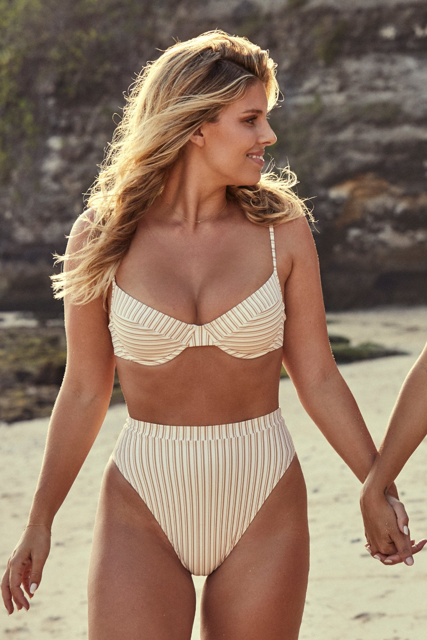 Riviera Bottom - Sand Stripe