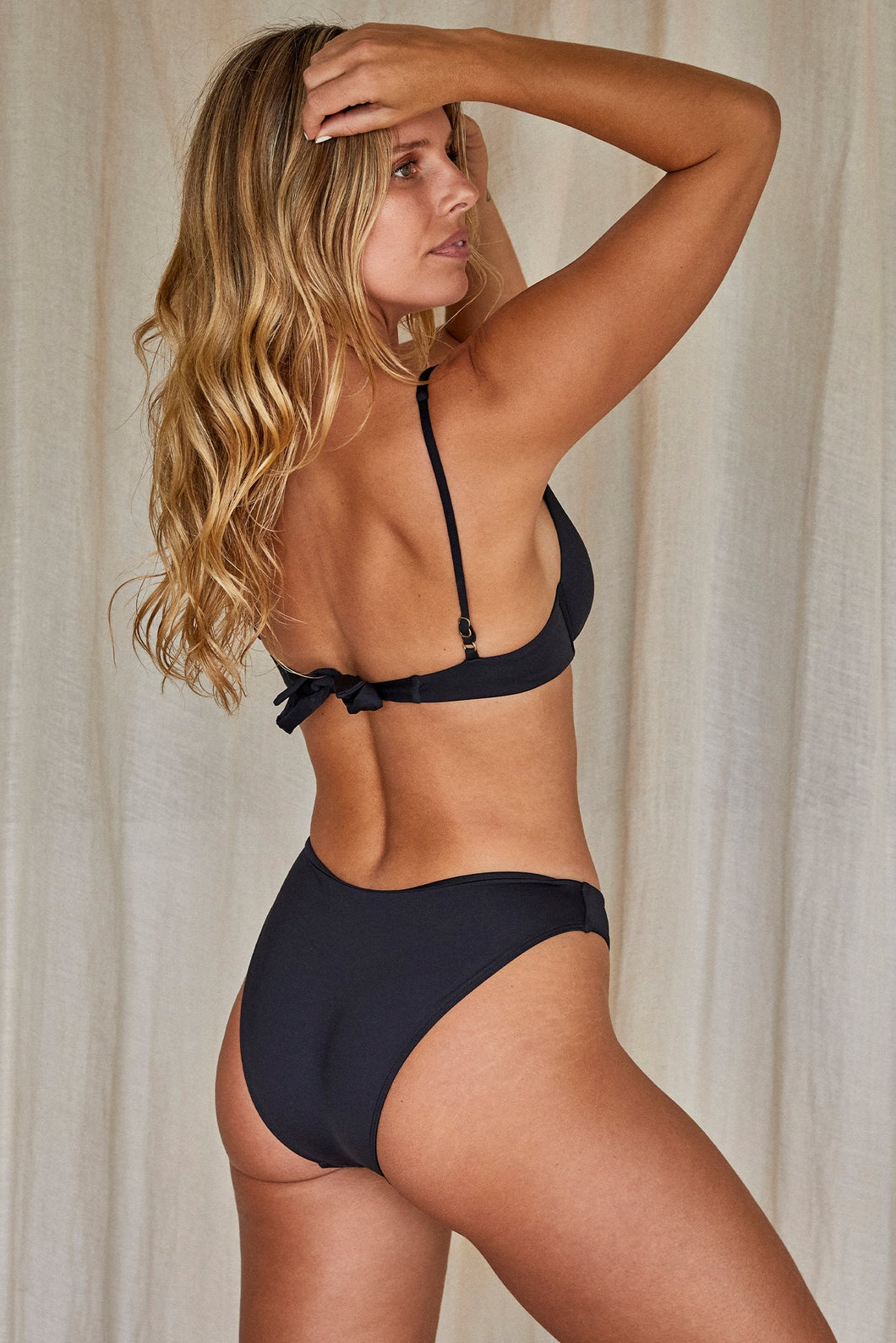 Seychelles Bottom - Black (Modest Coverage)