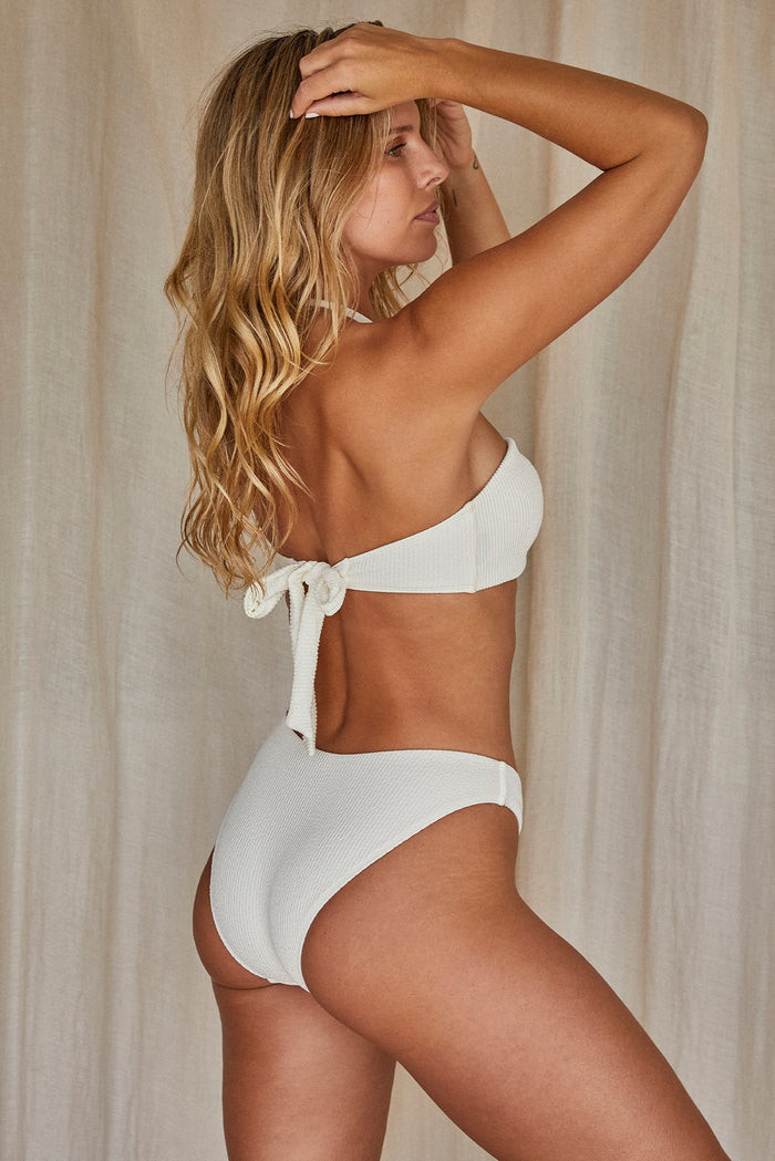 Seychelles Bottom - Ivory Crinkle (Modest Coverage)