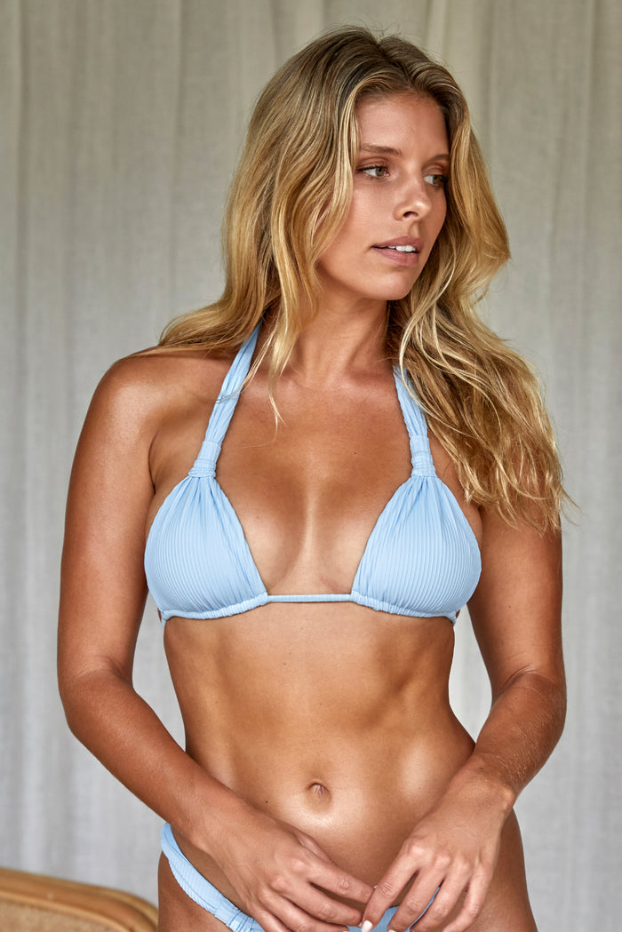Tulum Top - Sky Blue Rib
