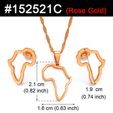 Load image into Gallery viewer, African Outline Map Necklaces + Earring Sets
