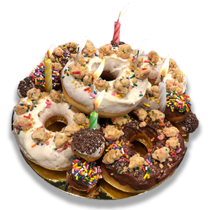 BIRTHDAY DONUT CAKE