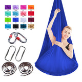 Anti-Gravity Yoga Hammock Fabric Yoga Fly Swing Aerial Traction Device Yoga hammock set Equipment for Pilates with carabiner
