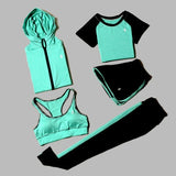 5 Piece Yoga  Set Sport Suit