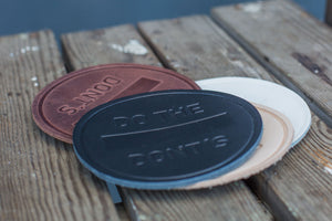 Handmade Leather Coasters