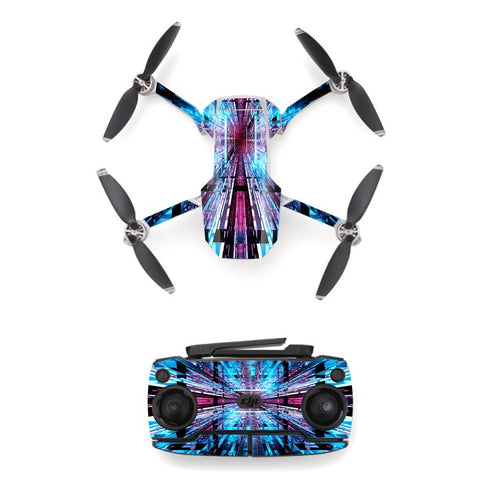 Colorful Line Style Skin Sticker for DJI Mavic Mini Drone And Remote Controller Decal Vinyl Skins Cover M0058