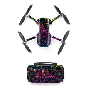 Colorful Line Style Skin Sticker for DJI Mavic Mini Drone And Remote Controller Decal Vinyl Skins Cover M0054