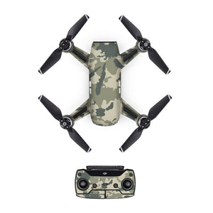 Camouflage Decal Skin Sticker For DJI Spark Drone body + Remote Controllers