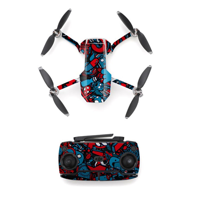 Graffiti Style Skin Sticker for DJI Mavic Mini Drone And Remote Controller Decal Vinyl Skins Cover M0094