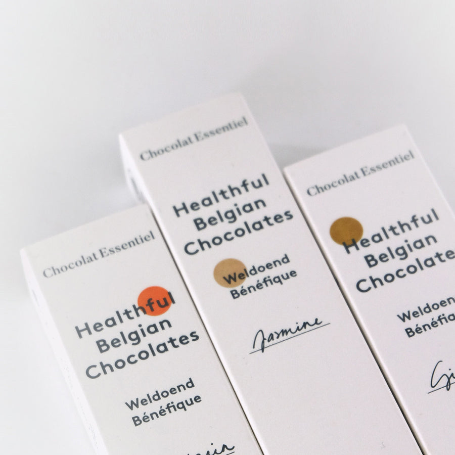 Healthful Belgian Chocolates van Chocolat Essentiel - Ginger