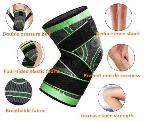 3D Pressurized Breathable Knee Braces Pad