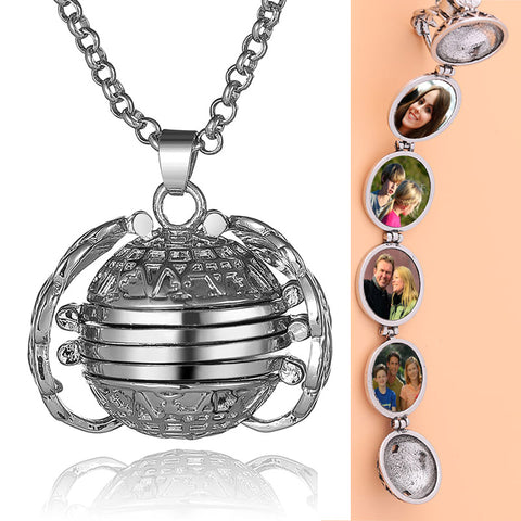 """Cool Expanding Photo Locket Necklace """"Angel Wings"""""""