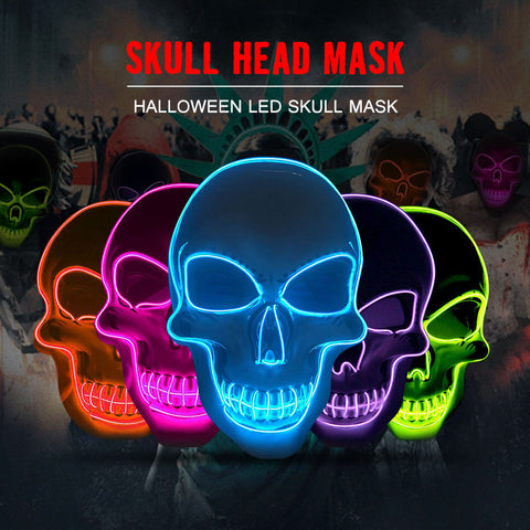 Cool Party Halloween Skeleton LED Mask