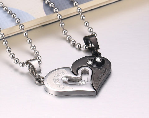 Fashion Couples Heart Pendant I Love You