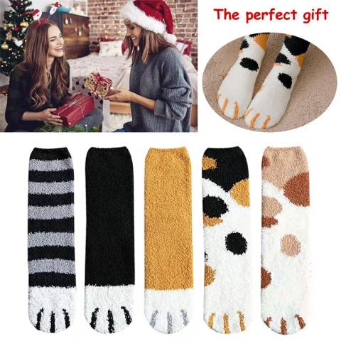 Lovely Winter Cat Claw Socks