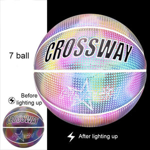 Holographic Glowing Reflective Basketball