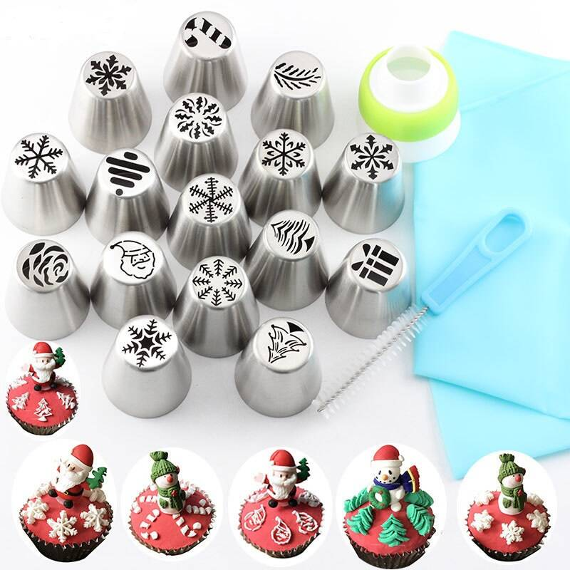 Christmas Design Pastry Nozzles Set