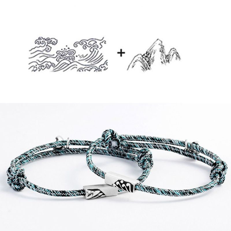 2PCS Couple Magnetic Rope Bracelet