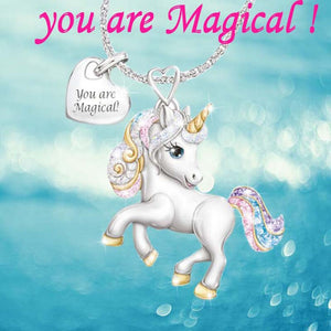 Rainbow Unicorn Necklace - You are Magical
