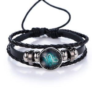 Cool 12 Zodiac Sign Bracelet with Beads
