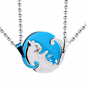 Special Couple Cat Necklace