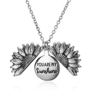 "Vintage Sunflower Necklace ""You Are My Sunshine"""