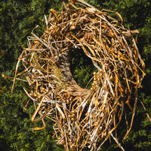 Load image into Gallery viewer, grass & bark nest wreath