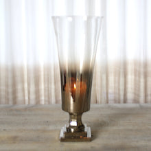 Load image into Gallery viewer, bronze ombre glass vase