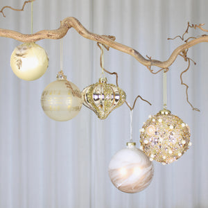 gold bauble collection