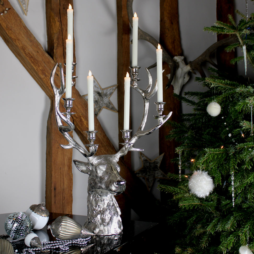 stag's head candelabra