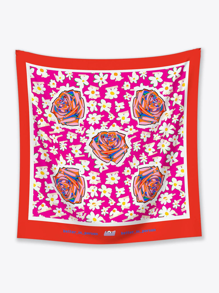 Better in Person Ahuva Silk Scarf - Moxie Tel-Aviv