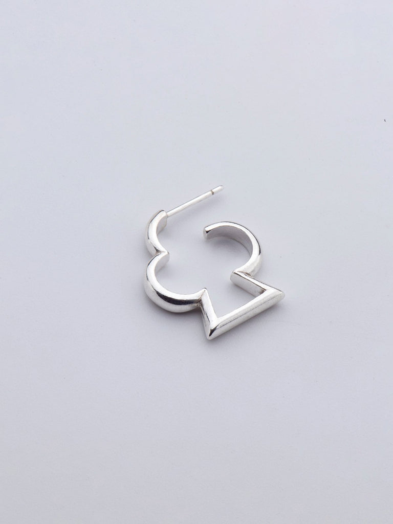 Born From Rock Clover Hoop Earring - Moxie Tel-Aviv