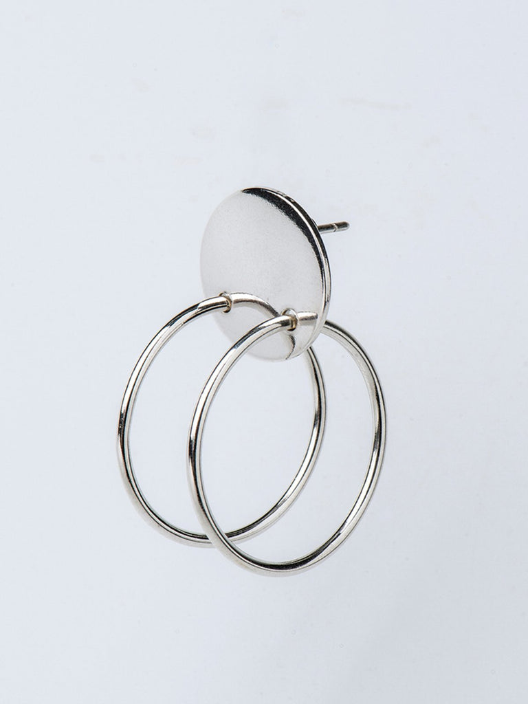 Born From Rock Double Hoop Earring - Moxie Tel-Aviv