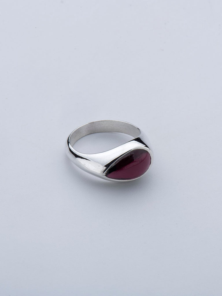 Born From Rock Garnet Tear Ring - Moxie Tel-Aviv